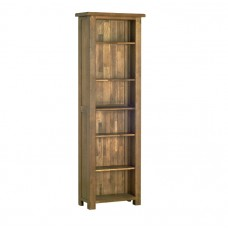 Devonshire Rustic Oak 6ft Narrow Bookcase
