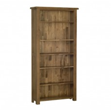 Devonshire Rustic Oak 6ft Bookcase