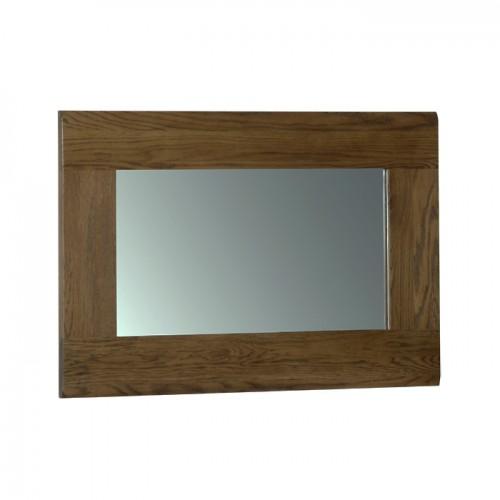 Devonshire rustic oak 90 x 60 wall mirror for Miroir 60x90