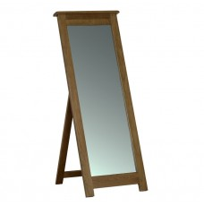 Devonshire Rustic Oak Cheval Mirror