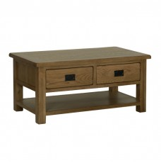 Devonshire Rustic Oak 2 Drawer Coffee Table