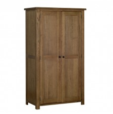 Devonshire Rustic Oak Double Wardrobe