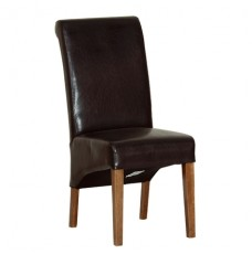 Devonshire Rustic Oak Brown Faux Leather Chair