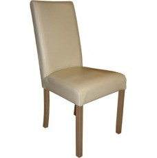 Marianna Cream Leather Oak Dining Chair