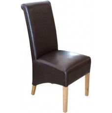 Richmond Brown Leather Oak Dining Chair