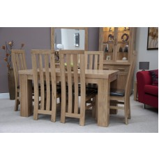 Opus Modern Oak Medium Chunky Top Dining Table