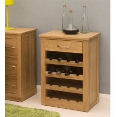 Mobel Oak Wine Rack / Lamp Table