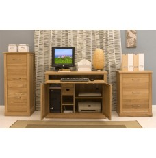 Mobel Oak Hidden Home Office