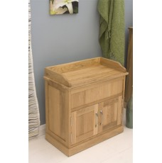 Mobel Oak Hidden Shoe Storage Bench