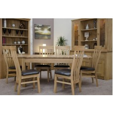 Opus Modern Oak Twin Leaf Plain Top Extending Table