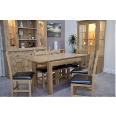 Opus Modern Oak Single Leaf Plain Top Extending Table