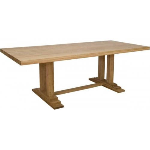 deluxe oak extending monastery dining table