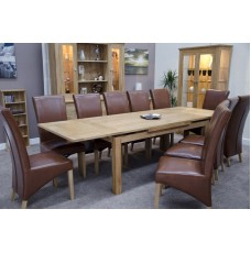 Opus Modern Oak Large Drawleaf Extending Table