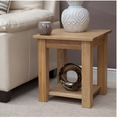 Torino Contemporary Oak Elegance Lamp Table