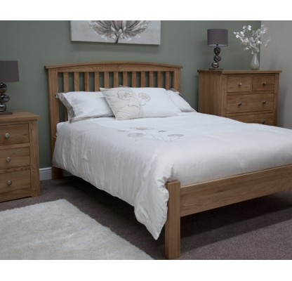 Opus Modern Oak Double Arched Bed
