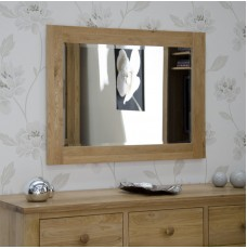 Torino Contemporary Oak 1020 x 720 Medium Mirror