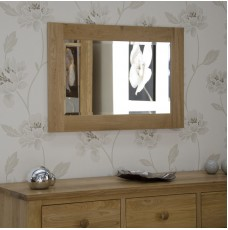 Torino Contemporary Oak Small 900 x 600 Mirror