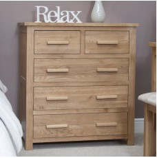 Opus Modern Oak 2 Over 3 Drawer Chest