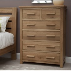 Opus Modern Oak 2 Over 4 Drawer Chest