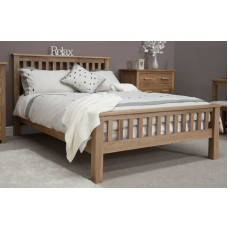 Opus Modern Oak Double Rail Bed