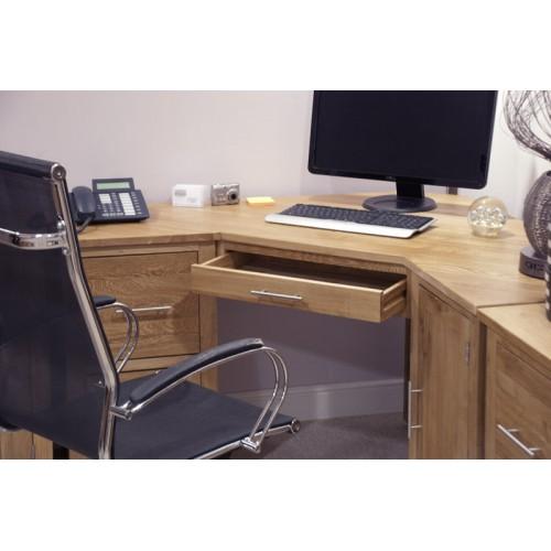 Opus Modern Oak Corner Desk