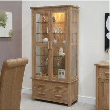 Opus Modern Oak Glass Display Cabinet Part 84