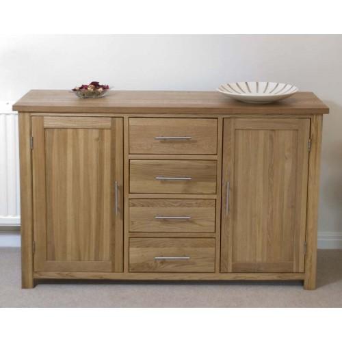 opus modern oak large sideboard. Black Bedroom Furniture Sets. Home Design Ideas