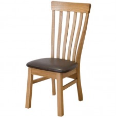 Opus Lucia Oak Leather Dining Chair
