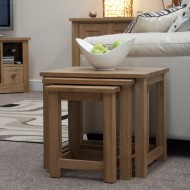 Opus Modern Oak Nest Of Tables