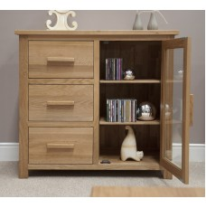 Opus Modern Oak Small Glazed Chest