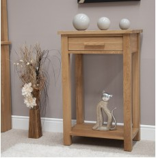 Opus Modern Oak Small Console Table