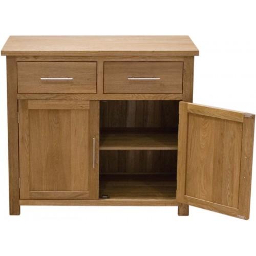 opus modern oak small sideboard. Black Bedroom Furniture Sets. Home Design Ideas
