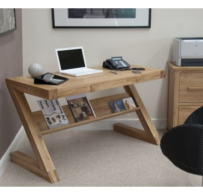 Z Oak Designer Office Desk