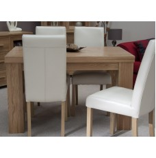 Opus Modern Oak Small Chunky Top Dining Table