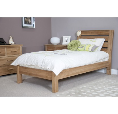 Torino Contemporary Oak Single Slatted Bed