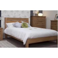 Opus Modern Oak Double Slatted Bed