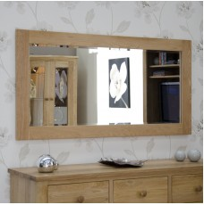 Torino Contemporary Oak 1500 x 750 Large Mirror
