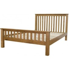 Homestyle Rustic Oak Double Bed