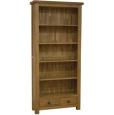Homestyle Rustic Oak Large Bookcase