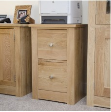 Torino Contemporary Oak Filing Cabinet