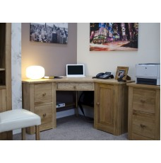 Torino Contemporary Oak Corner Desk