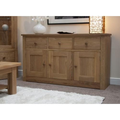 torino contemporary oak large sideboard. Black Bedroom Furniture Sets. Home Design Ideas