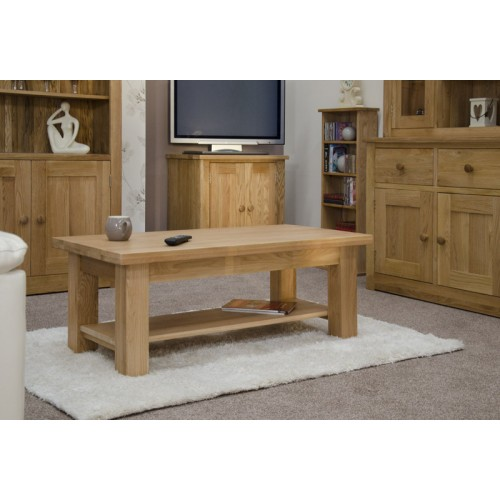 Torino Contemporary Oak 4 X 2 Large Coffee Table