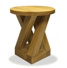 Z Oak Designer Round 4 Leg Lamp Table