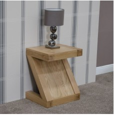 Z Oak Designer Lamp Table
