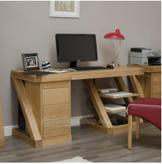 Z Oak Designer Large Computer Desk