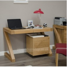 Z Oak Designer Small Computer Desk