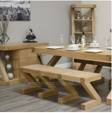 Z Oak Designer Large Bench