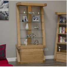 Z Oak Designer Display Cabinet