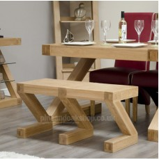 Z Oak Designer Small Bench